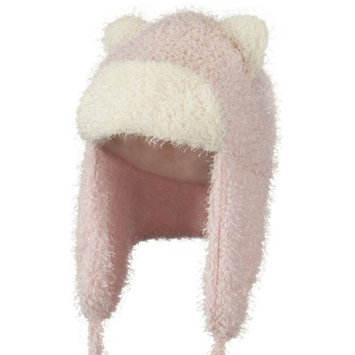 Tweed Trapper Animal Hat - Pink OSFM