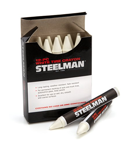 Steelman 00063 White Tire Marking Crayons, Box of ()