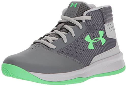 - Under Armour Boys' Pre School Jet 2017 Basketball Shoe, Graphite (100)/Aluminum, 11K
