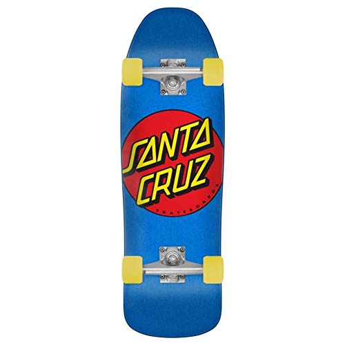 Santa Cruz Classic Dot Cruzer 80s Complete Skateboard,Multicolored,9.35