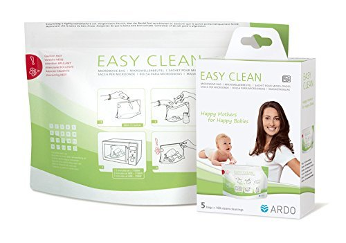 Ardo Easy Clean - Multi-use microwave steam cleaning bags for breastfeeding accessories, 5 bags