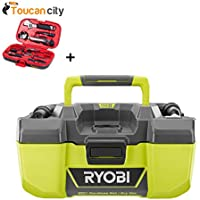 Ryobi 18-Volt ONE+ 3 Gal Project Wet/Dry Vacuum with Accessory Storage (Tool-Only) P3240 and Toucan City Tool kit (9-Piece)