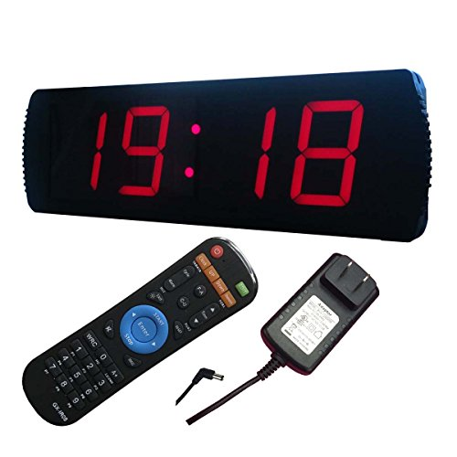 4 4 digits led digital clock with countdown/up function 12VDC Work Volt digital wall clock INDOOR USE ONLY
