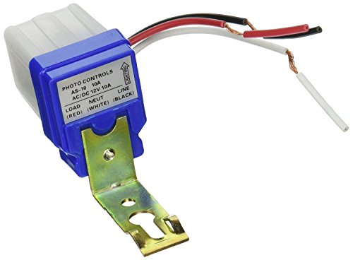 HIGHROCK Ac Dc 12v 10a Auto on Off Photocell Light Switch Photoswitch Light Sensor Switch (Photocell Detector)