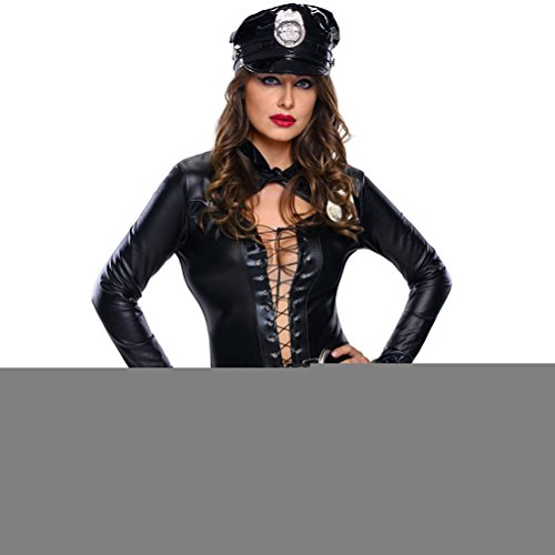 [BYY Stylish 6pcs Female Cop Costume(Size,L)] (1940s Cop Costume)