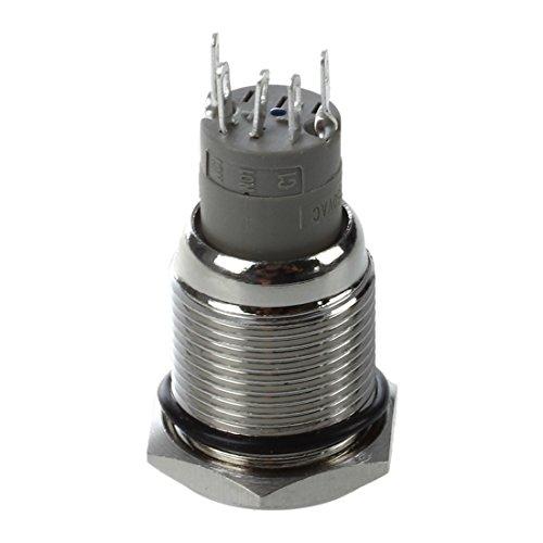 SODIAL (R)Bouton Poussoir Interrupteur LED Eclairage Bleu 12V 3A Pour Voiture