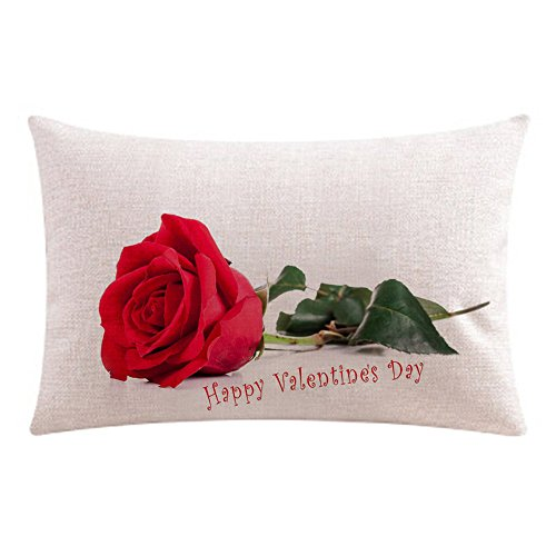 Amazon.com: Throw Pillow Cover, DaySeventh Happy Valentine Pillow Cases Cotton Linen Sofa Cushion Cover Home Decor 20x12 Inch 50x30 cm: Home & Kitchen