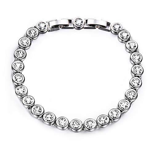 YALONG Tennis Bracelet for Women Jewelry White Gold Plated 6.5