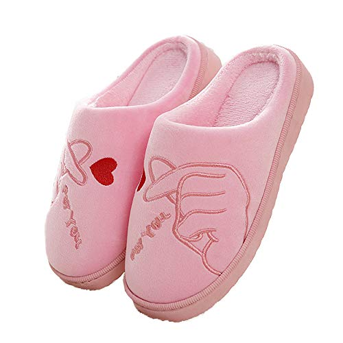 Velvet Indoor Home Women Toe Home Graphic Foam Shoes Slippers Pink Closed Memory 1BqUIwHWT