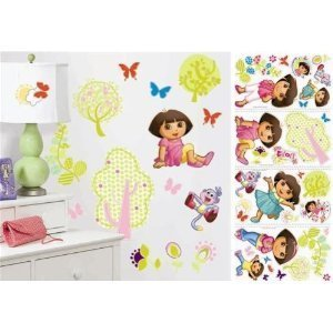 DORA the EXPLORER 28 BiG Wall Stickers Nickelodeon BOOTS Room Decor Decals Trees ()