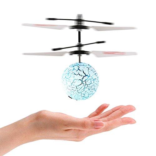 ThinkMax Boule de vol de RC avec la couleur changeant des lumières de LED, boule d'hélicoptère d'induction infrarouge de RC Lumières LED de changement de couleur de Shinning incorporées