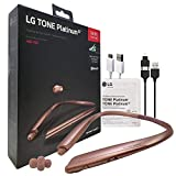 LG Tone Platinum Alpha HBS-930 HD Bluetooth Headset Gold - Harman Kardon with 2in1 USB Lighting & Micro (Retail Packing Kit)