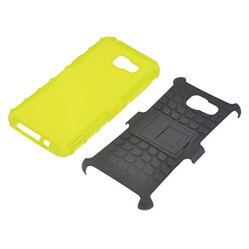 Galaxy A5 Funda,COOLKE Detachable 2 in 1 TPU + PC Dual Layer Rugged Case Cover with Built-in Kickstand for Samsung Galaxy A5 - púrpura verde