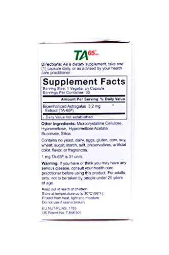 T.A. Sciences   TA-65 30 Caps 100U   Free $99.00 Value   Rg-Cell Concentrated Restorative Serum with EGF &AFA Algae by T.A. Sciences (Image #2)