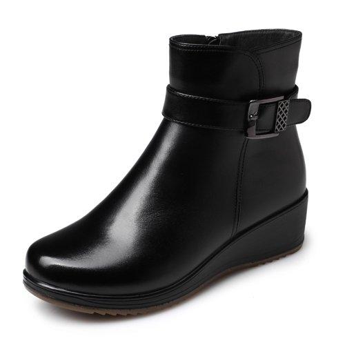stivali autunno Aemember inverno e cotone inverno 35 scarpe Donna scarpe Madre Scarpe vecchie di in stivali di antiscivolo nero nC1C7Exr