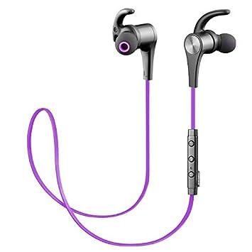 Auriculares Bluetooth 4.1 Auricular magnético SoundPEATS Cascos inálambrico Deportivos, tecnología APTX y de Ruido de Cancelación CVC 6.0,Sonido ...