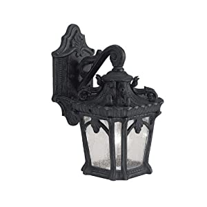 Kichler 9355BKT Tournai Outdoor Wall 1-Light, Textured Black