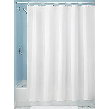 InterDesign Paxton Fabric Shower Curtain, Luxury Hotel   Long 72 X 84, White