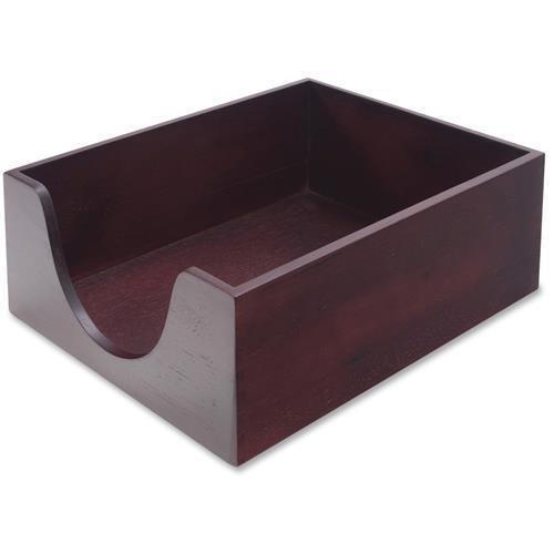 08213 Carver Double Deep Wood Desktop Tray - Hardwood, Felt - (Double Deep Wood Desk Tray)