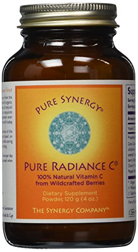 Pure Synergy Pure Radiance C (4 oz Powder) 100% Natural Vitamin C from Fruits & Berries, Non-GMO - 41rflfqb7nL - Pure Synergy Pure Radiance C (4 oz Powder) 100% Natural Vitamin C from Fruits & Berries, Non-GMO