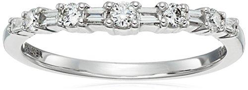 10k White Gold White Diamond Insert Ring (1/4cttw, H-I Co...