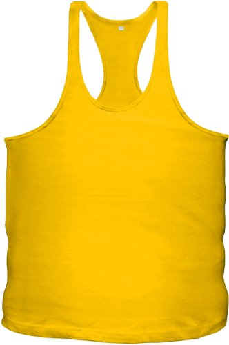 Chaleco Top Muscle colores Bodybuilding Fitness dorado Stringer camiseta Tank Bodybuilding en amarillo 12 rE0qX0U