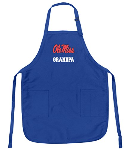 Broad Bay Deluxe Ole Miss Grandpa Apron w/Pockets Barbecue Grilling Kitchen Cooking