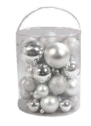 Christbaumkugeln Silber Matt.50 Weihnachtskugeln Christbaumkugeln Christbaumschmuck In Silber Matt Glanz Frost