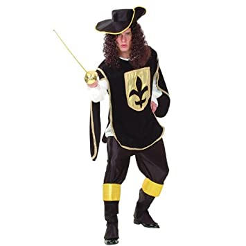 Bristol Novelties - Disfraz de mosquetero para hombre, talla 10 ...