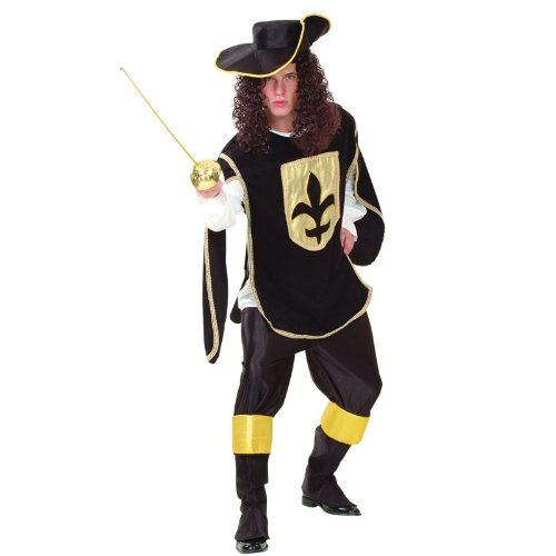 Black Musketeer Man Costume (Musketeer Costume Men)