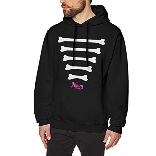 HCULXTIBW Men's Avril Lavigne Bone Hooded Sweatshirt Fashion No Pocket L Black]()