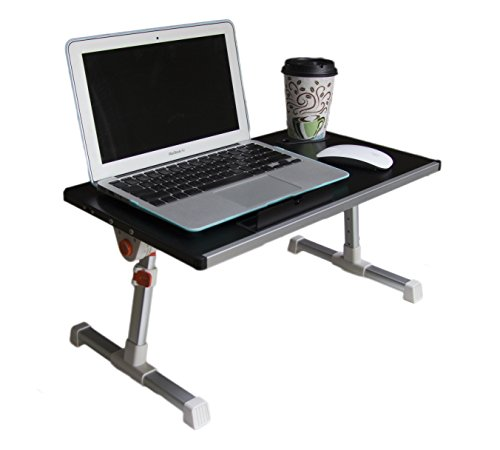 41rfmiA4b6L - Portable Height Adjustable Folding Aluminium Laptop Stand Desk Table, Light Weight, Vented w/ CPU Fans