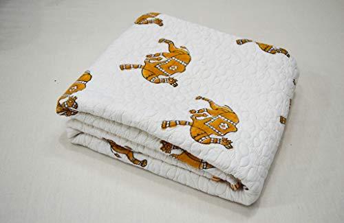 V Vedant Designs Baby Quilt Indian Camel Print Blanket Unisex Baby Bedding Art Quilt