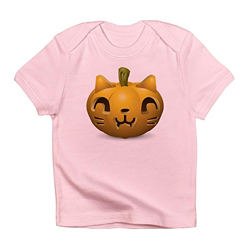Truly Teague Infant T-Shirt Kitty Cat Halloween Jack-O-Lantern - Petal Pink, 18 To 24 Months]()
