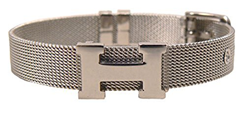 New Fashion Watch Belt Design H Titanium Steel Bracelet (Silver, 7inch(16cm)) ()
