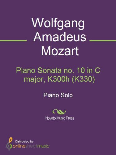 Piano Sonata no. 10 in C major, K300h (K330)