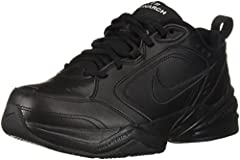 Men's Nike Air Monarch IV (4E) Training Shoe sets you up for comfortable training with durable leather on top for support. A lightweight foam midsole with a full-length encapsultaed Air-Sole unit cushions every stride in the men's sneaker.   ...