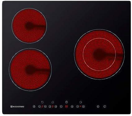 PLACA INDUCCION ECI-N3 MILECTRIC 60 cm de Ancho, 3 Zonas de cocci/ón, Control t/áctil, Power Boost,