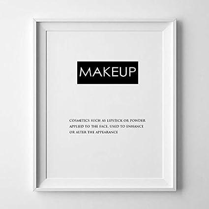 Maquillaje definición impresión, Teen Decor, belleza, impresiones, impresión grande en casa de