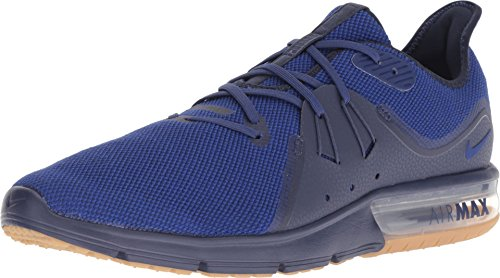 Nike Air Max Sequent 3 Mens Running Trainers 921694 Sneakers Shoes (UK 11 US 12 EU 46, Obsidian deep Royal Blue 405) (Nike Air Max 46)