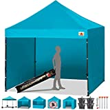 Abccanopy Turquoise 10 X 10 Ez Pop up Canopy Tent Commercial Instant Gazebos with 6 Removable Sides and Roller Bag and 4x Weight Bag Review
