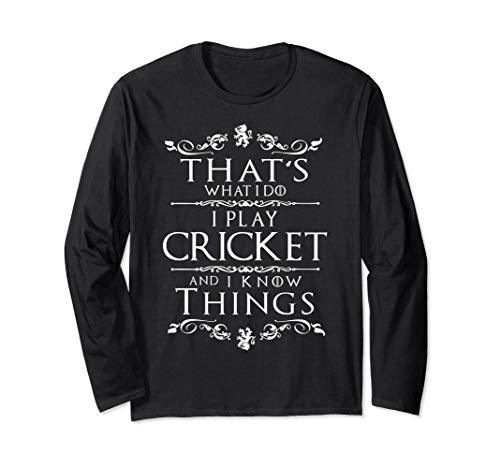 Cricket Apparel Cricket Lover Gift Cricket Player Long Sleeve T-Shirt (Wireless Apparel Cricket)