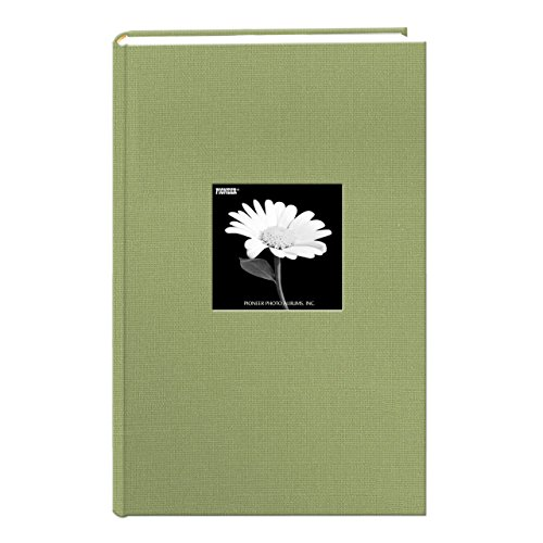 Fabric Frame Cover Photo Album 300 Pockets Hold 4x6 Photos, Sage Green