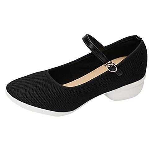 Peigen Dance Shoe for Women,Latin Dance Shoes Women Ballroom Salsa Tango Party Oxford Heeled Dancing Shoes