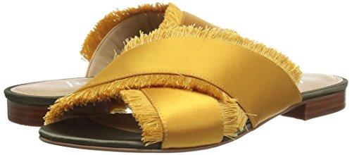 Pictures of The Fix Women's Brystal Frayed Cross Brystal Frayed Cross Strap Slide Sandal 4
