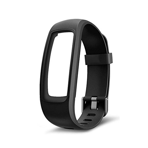 Forgun Fitness Tracker Monitor Replacement Strap Wristband For ID107 Plus Smart Watch (black)