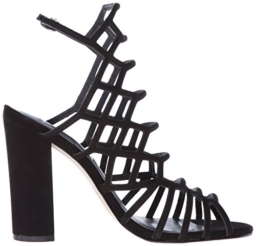 Steve Madden Women's Skales Dress Sandal Black Nubuck 5t5xQxdQ