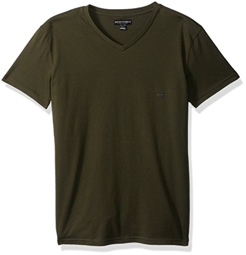 Emporio Armani Men's Iconic Logoband V-Neck, Military, XL by Emporio Armani