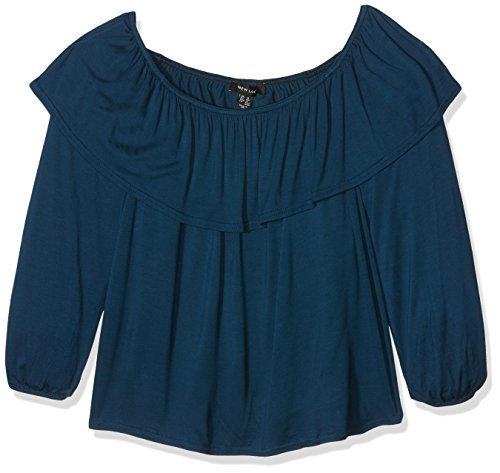 New Look5028076, Camiseta de Manga Larga Para Mujer Azul (Navy)