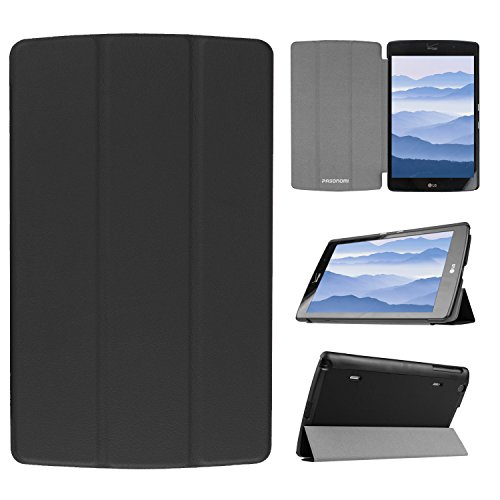 LG G Pad X 8.3 Case, Pasonomi® Ultra-Slim and Ultra-light PU Leather Folio Case Stand Cover With Smart Cover Auto Wake / Sleep Feature for LG G PAD X 8.3 inch Tablet (Slim Series Black)